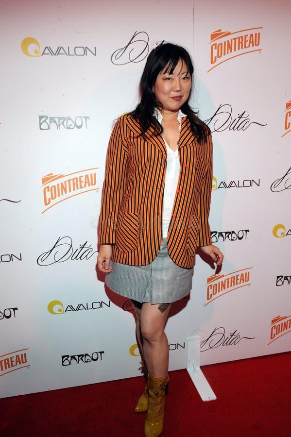 Margaret Cho no tapete vermelho. foto de stock royalty free