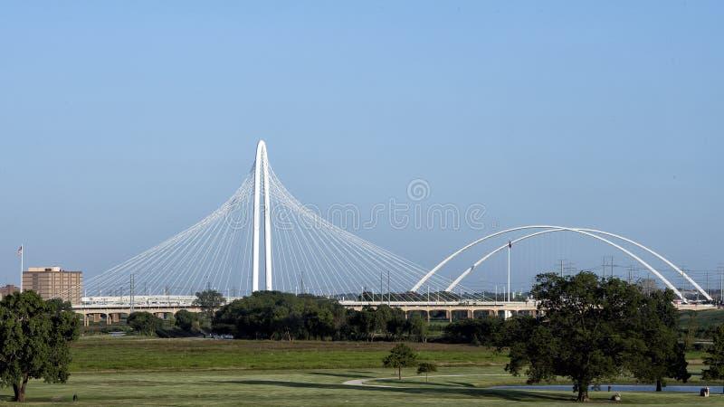 Margaret Hunt Hill Bridge, Dallas fotografía de archivo libre de regalías