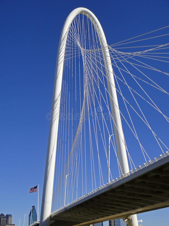 Margaret polowania most w Dallas przy pogodnym zima dniem zdjęcia stock