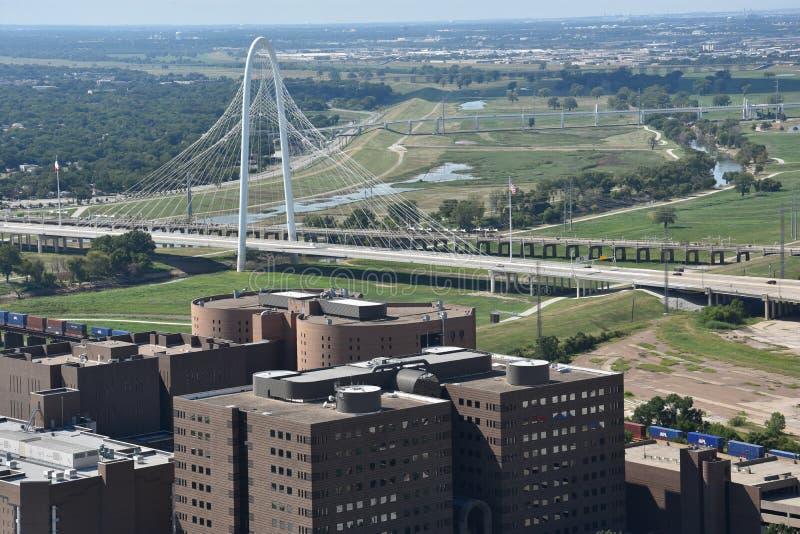 Margaret polowania wzgórza most w Dallas, Teksas zdjęcia stock