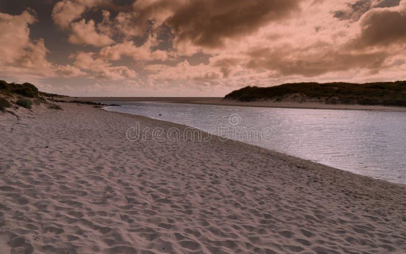 Margaret River no por do sol, Austrália Ocidental imagem de stock royalty free
