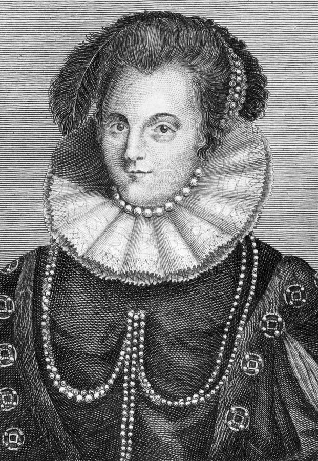 Margaret Russell. Margaret Clifford (nee Russell), Countess of Cumberland (1560-1616) on engraving from 1784. Wife of George Clifford, 3rd Earl of Cumberland stock image