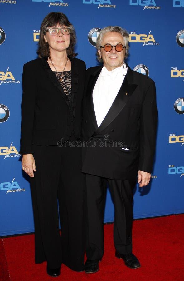 Margaret Sixel et George Miller image libre de droits