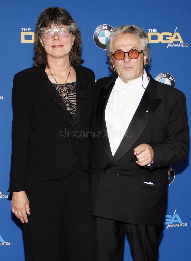 Margaret Sixel i George Miller fotografia royalty free