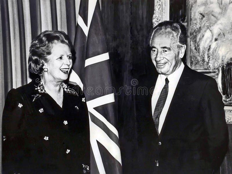 Download Margaret Thatcher And Shimon Peres Editorial Photo - Image of kingdom, prime: 30301776
