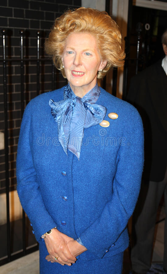 Margaret Thatcher en señora Tussaud imágenes de archivo libres de regalías
