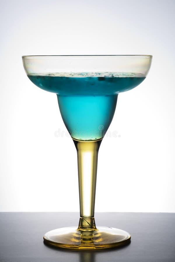 Margarita. Blue margarita on a graduated background stock images