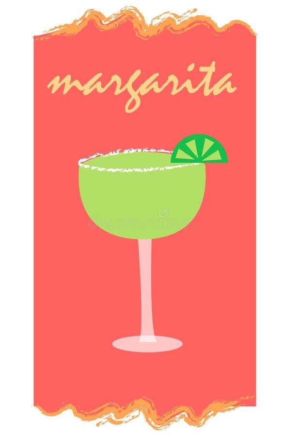 Margarita auf Rot lizenzfreie abbildung