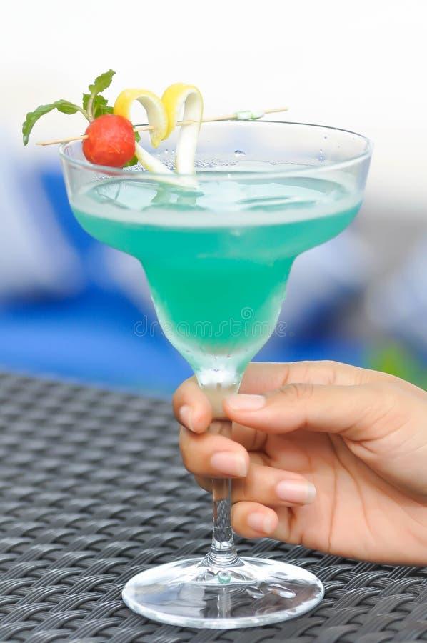 Margarita blu o l'Hawai blu fotografie stock
