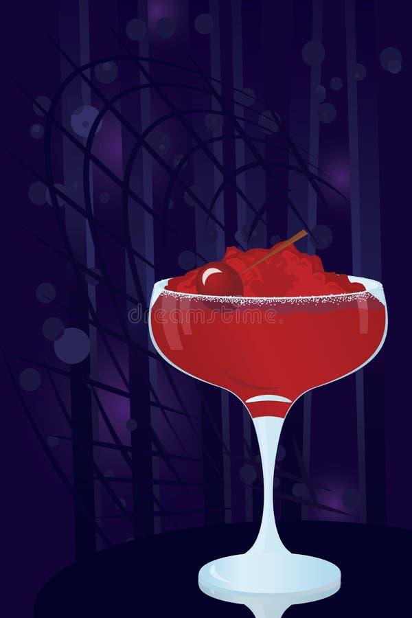 Margarita-Cocktail. Vector illustration of a margarita cocktail on night disco background royalty free illustration