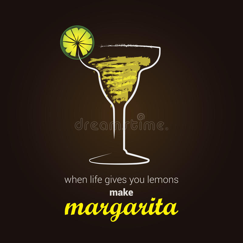 Margarita Cocktail ilustração stock