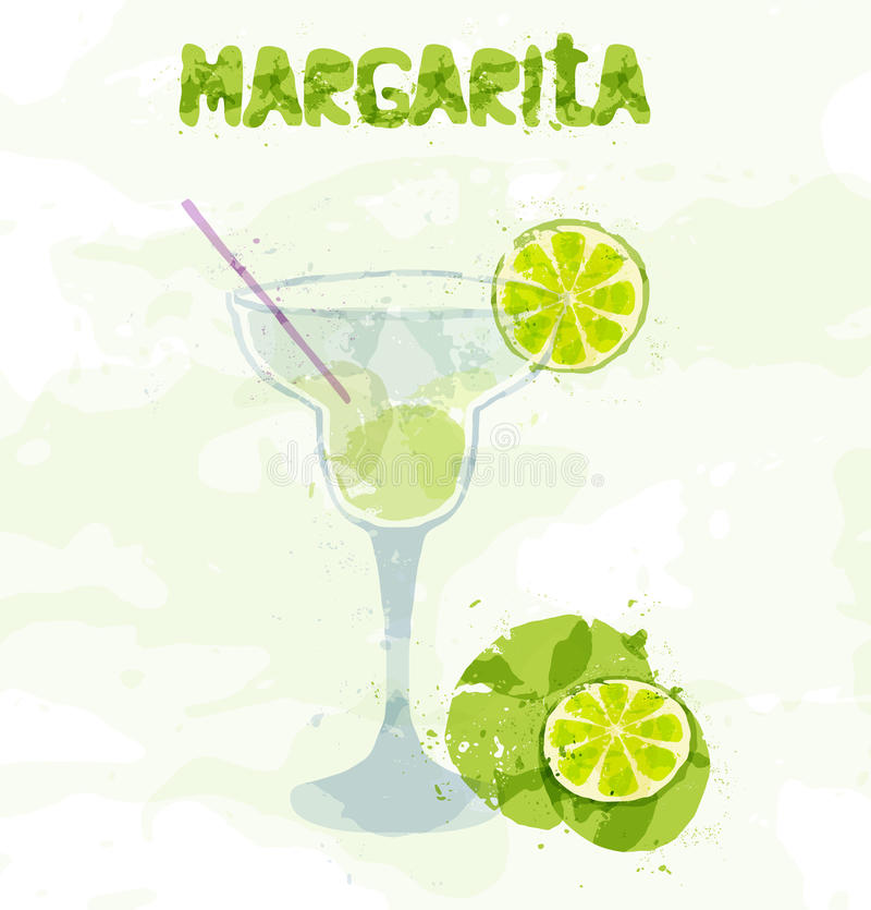 Margarita Cocktail lizenzfreie abbildung