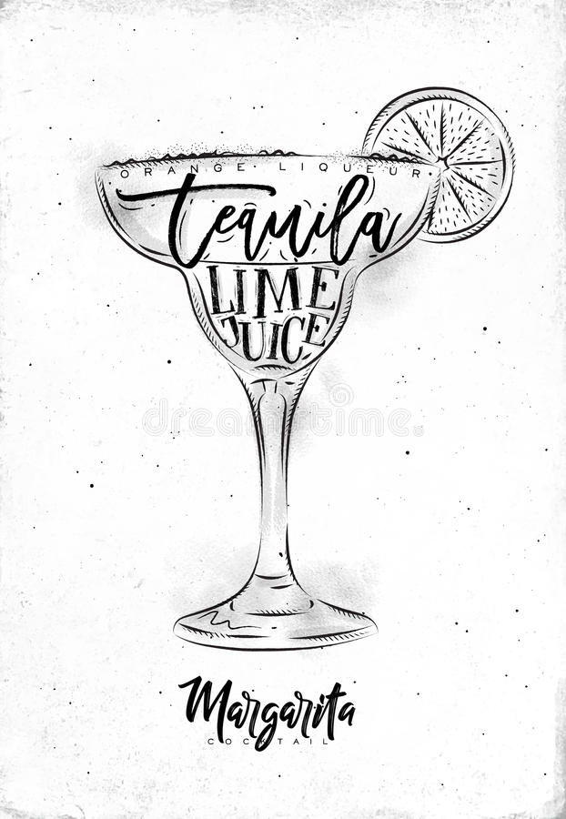 Margarita Cocktail illustration stock