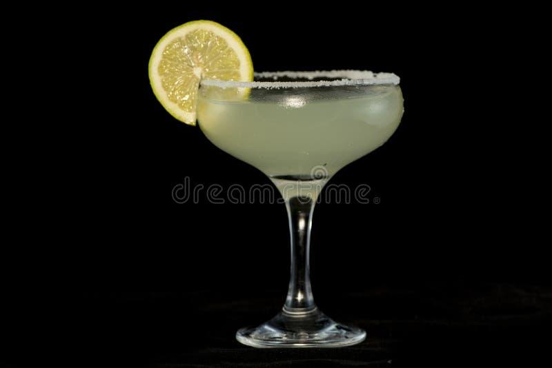 Margarita Cocktail con la tequila, il succo di cedro e cointreau fotografia stock libera da diritti