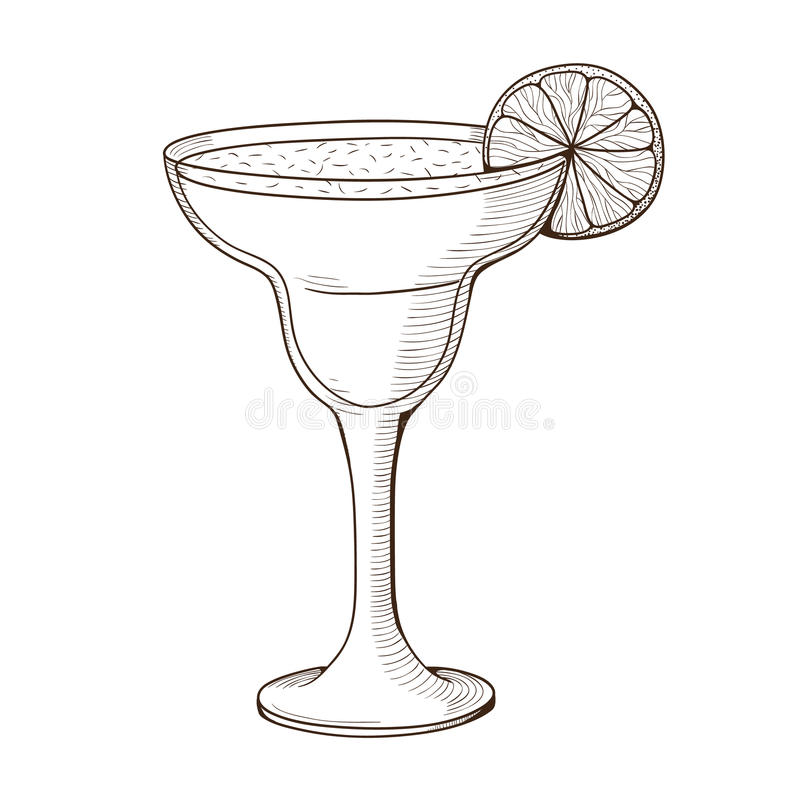 Margarita cocktail in a glass. Summertime vacations and traveling symbol. Eps 10 vector illustration vector illustration