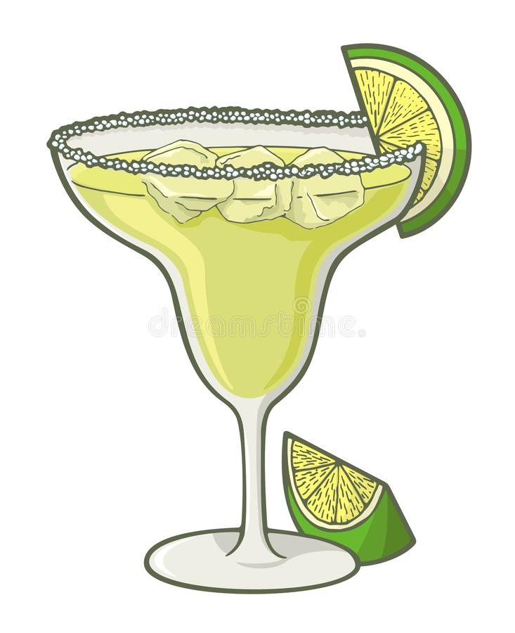 Margarita cocktail royalty free illustration