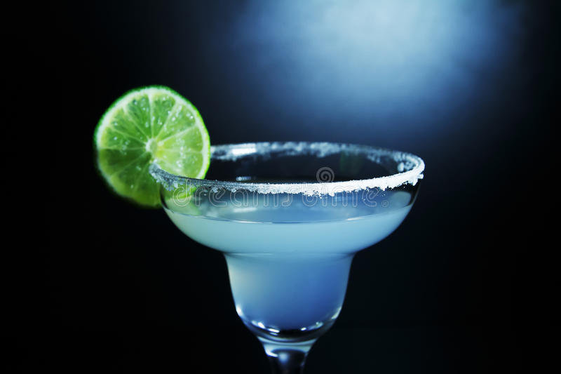 Margarita cocktail with lime royalty free stock image