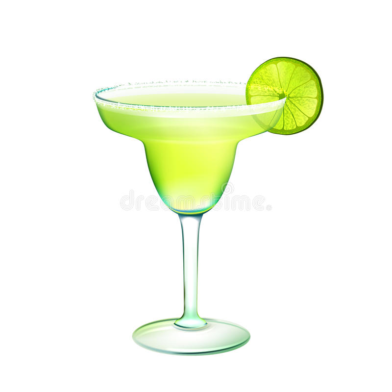 Margarita cocktail realistic royalty free illustration