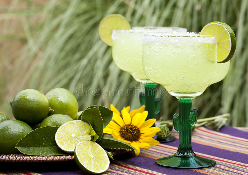 Margarita Cocktails Outdoors 2 imagens de stock royalty free