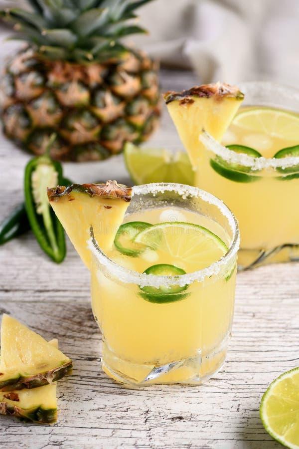 Margarita d'ananas avec le Jalapeno image libre de droits