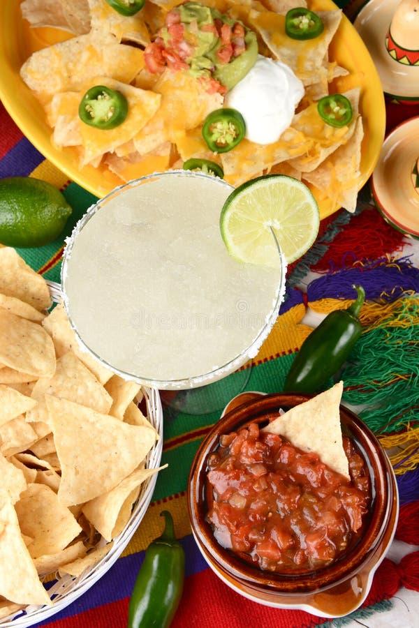 Margarita e alimento mexicano foto de stock royalty free