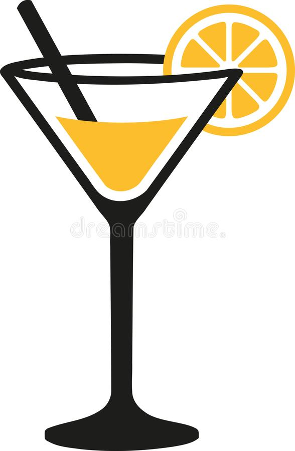 Margarita en verre de cocktail illustration de vecteur