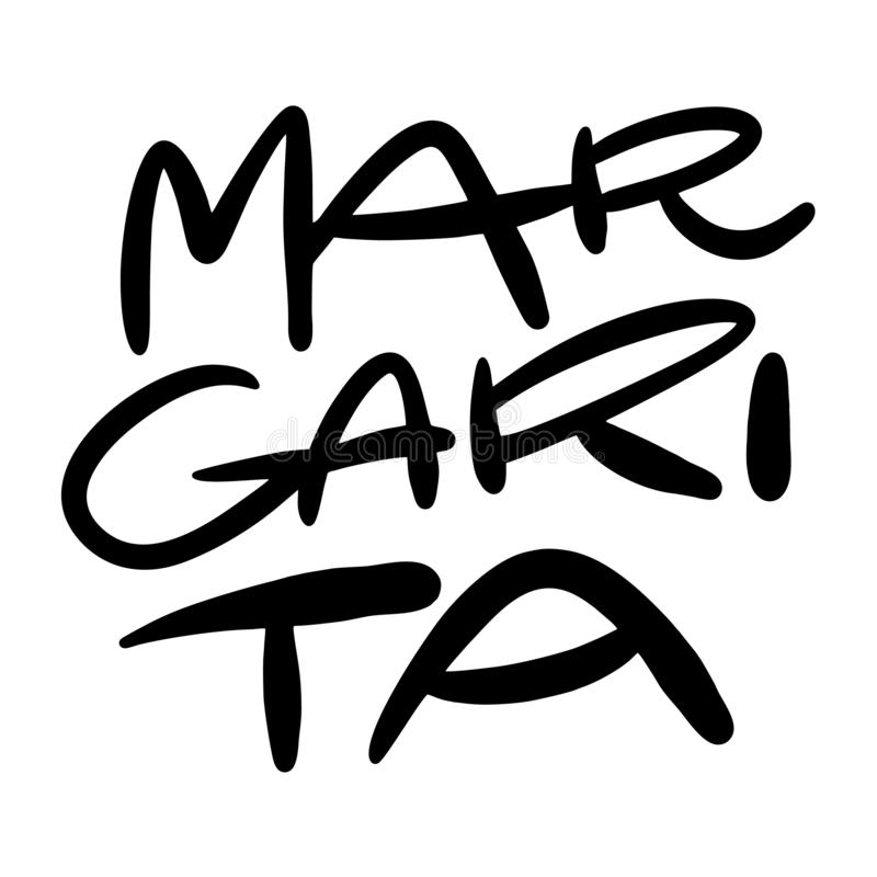 Margarita hand drawn vector lettering. Isolated on white background vector illustration