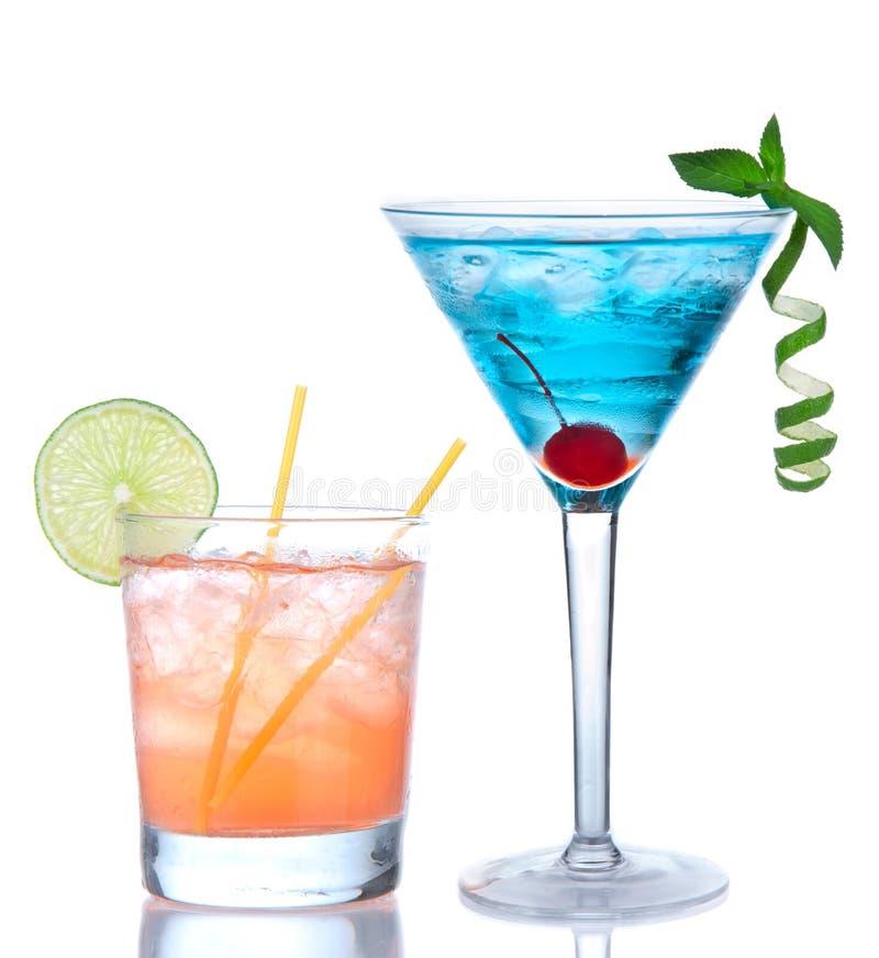 Margarita hawaïenne de cocktail de Martini et jaune bleue photos libres de droits