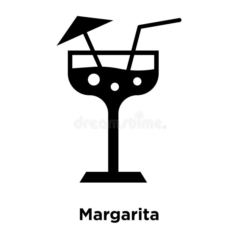 Margarita icon vector isolated on white background, logo concept. Of Margarita sign on transparent background, filled black symbol stock illustration