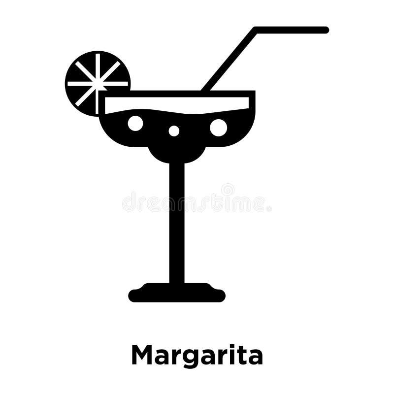 Margarita-Ikonenvektor lokalisiert auf weißem Hintergrund, Logokonzept stock abbildung