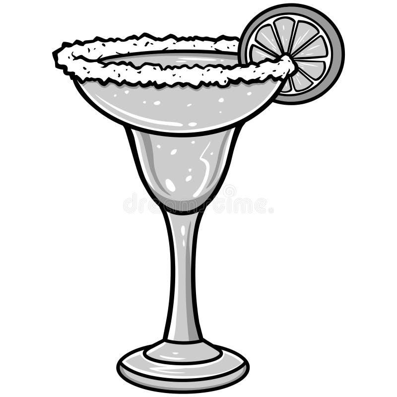 Margarita Illustration. A vector illustration of a Margarita royalty free illustration
