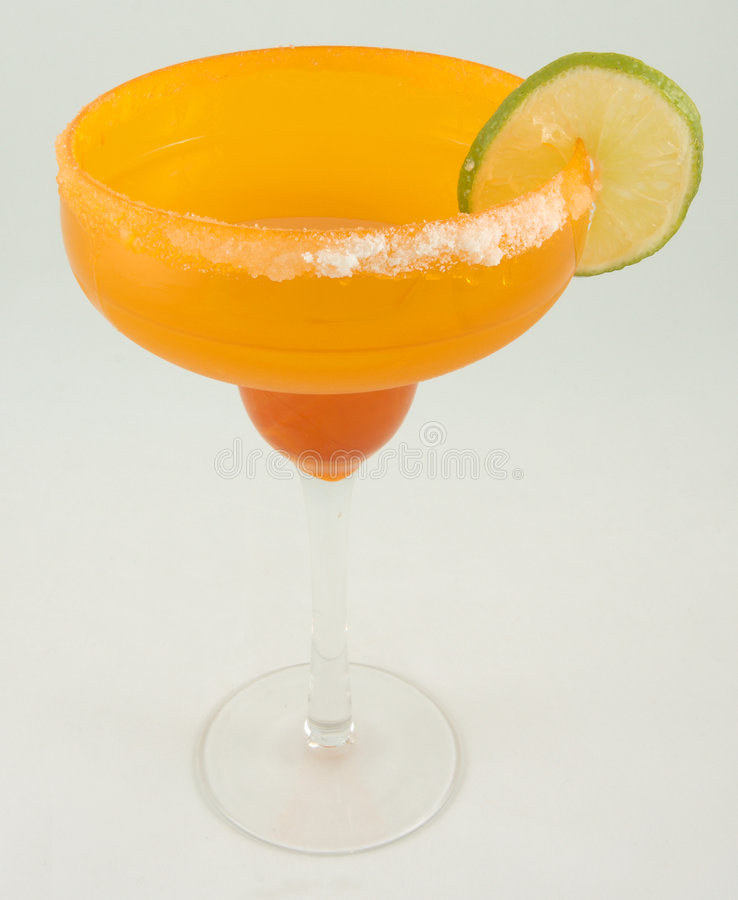 Margarita with lime royalty free stock photo