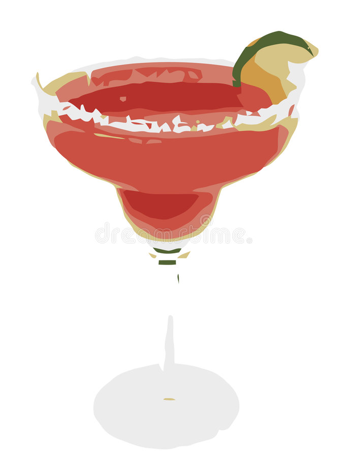 Margarita With Lime on White. JPEG and Vector Illustration royalty free illustration