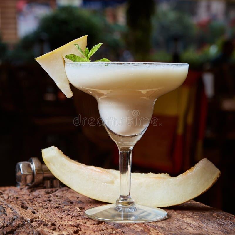 Margarita-Melonencocktail stockbilder