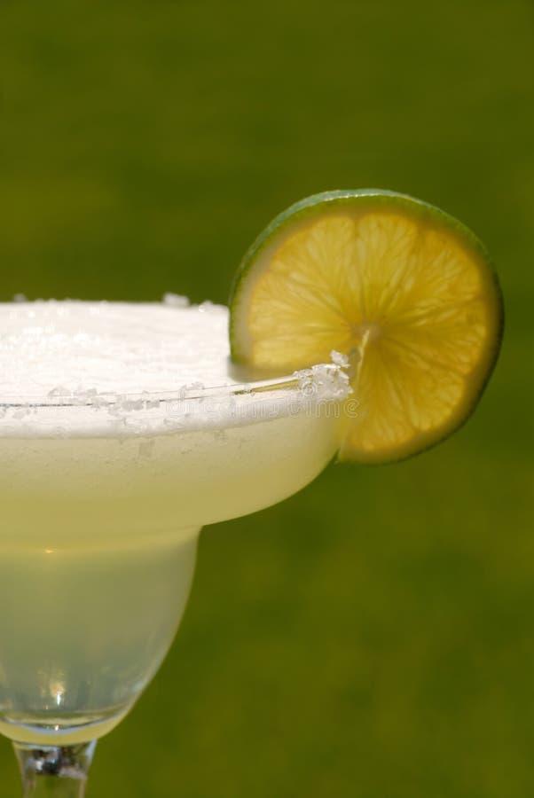 Margarita met een plak van kalk royalty-vrije stock afbeelding