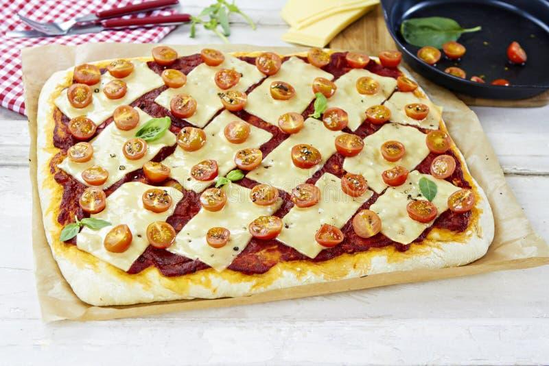 Margarita-Pizza lizenzfreie stockfotos
