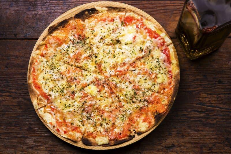 Margarita-Pizza stockbilder