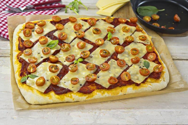 Margarita pizza royalty free stock photography