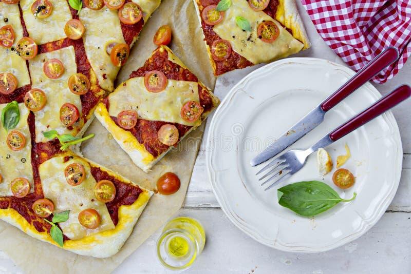 Margarita pizza stock images