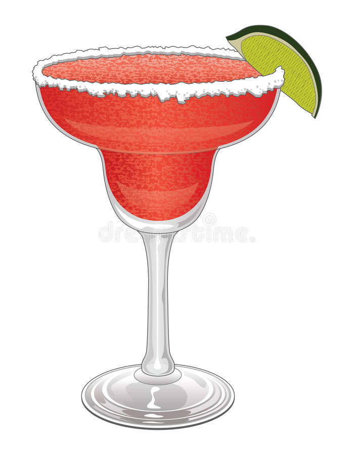 Margarita-Strawberry stock vector. Image of cocktail ...