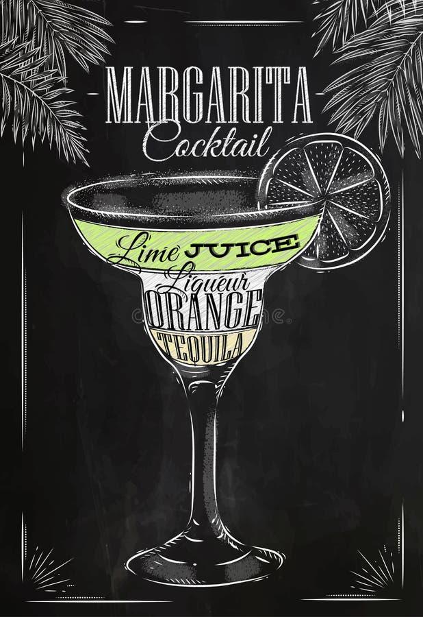 Margaritacoctailkrita vektor illustrationer