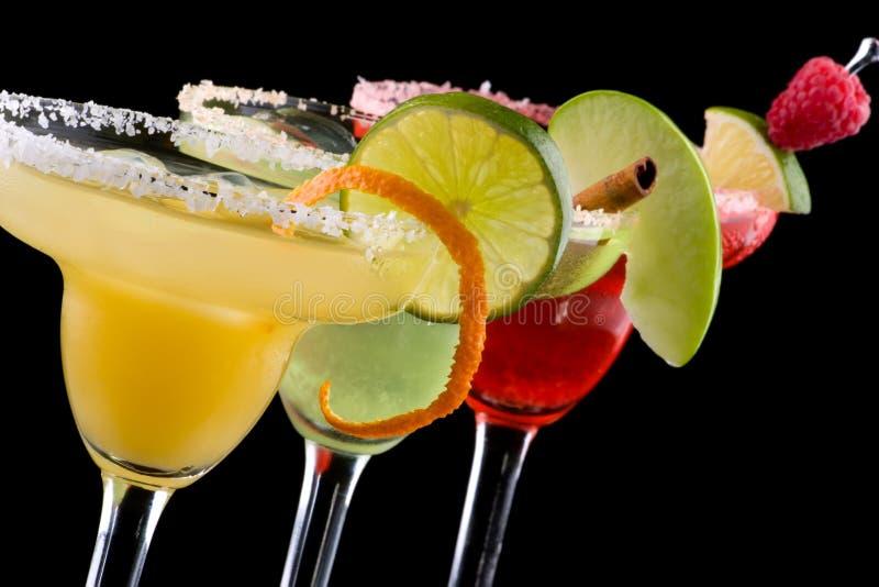 Margaritas - la maggior parte della serie popolare dei cocktail fotografie stock