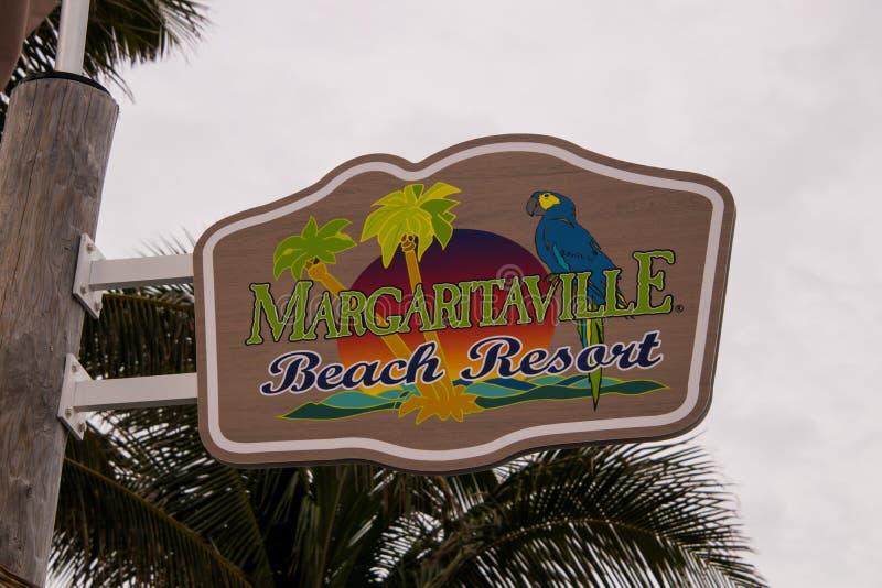 Margaritaville Podpisuje wewnątrz Floryda przy Margaritaville kurortem zdjęcia royalty free