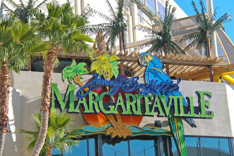 Margaritaville restaurant-gift shop in Las Vegas. LAS VEGAS, NEVADA, USA - OCTOBER 20 : Margaritaville restaurant-gift shop on October 20, 2013 in Las Vegas royalty free stock photo