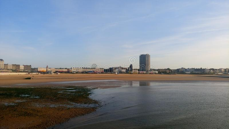 Margate beach stock photo