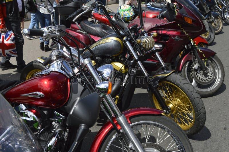 Visitors admire motorbikes at Margate Meltdown annual bike ride. royalty free stock photo