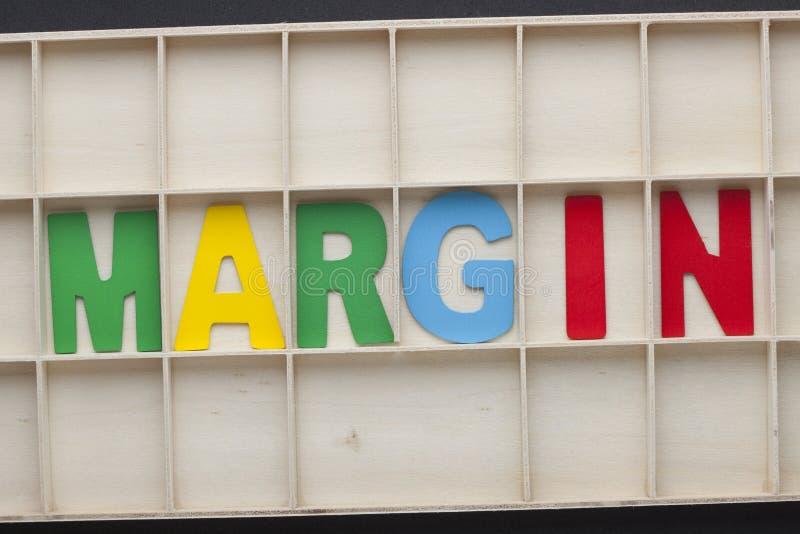 Marge écrite avec des lettres d'alphabet photos libres de droits