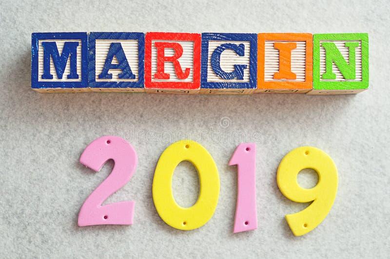 Marge 2019 image libre de droits