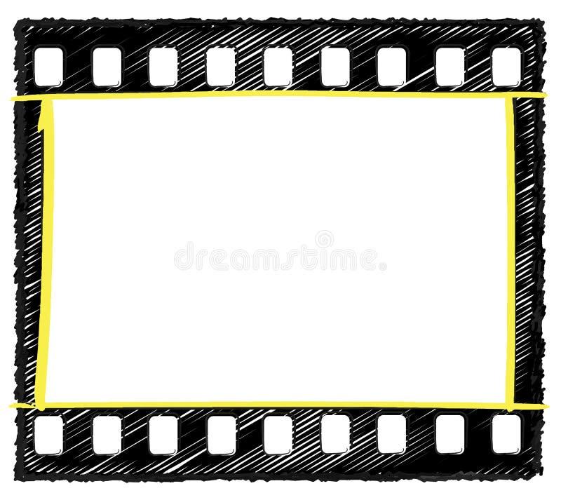 marge bénéficiaire bénéficiaire de sélection de croquis de trame de 35mm illustration libre de droits