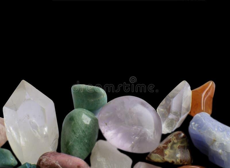 Marge de pierres gemmes photo stock